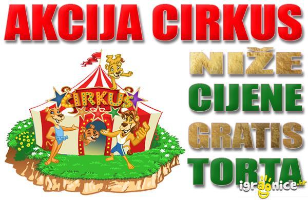 Akcija u igraonici Cirkus!