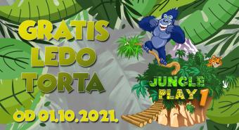 Gratis Ledo Medo rođendanska torta u Jungle play 1